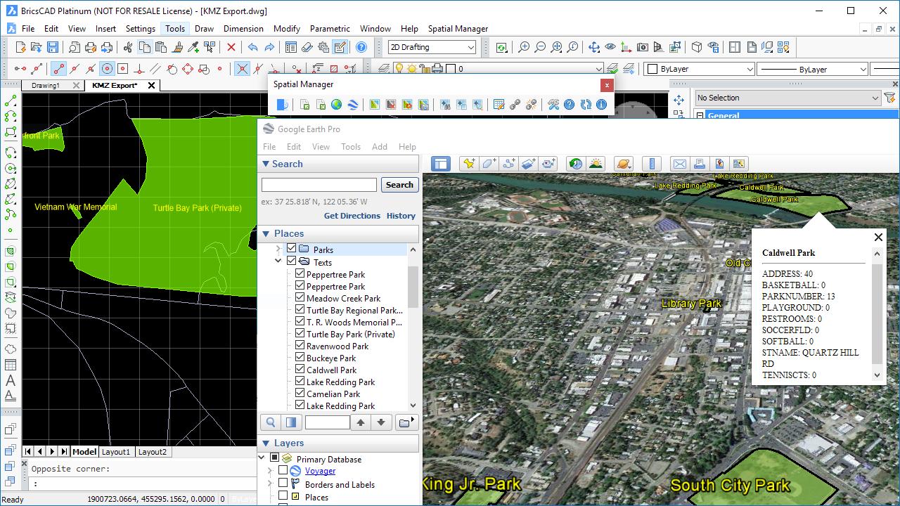 Exporting Texts to Google Earth from BricsCAD    - BricsCAD