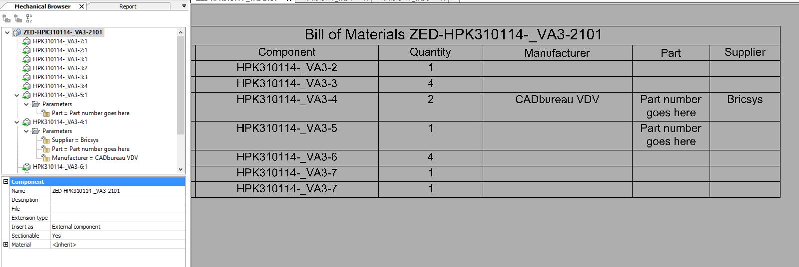 Bill of Materials - BricsCAD Forum